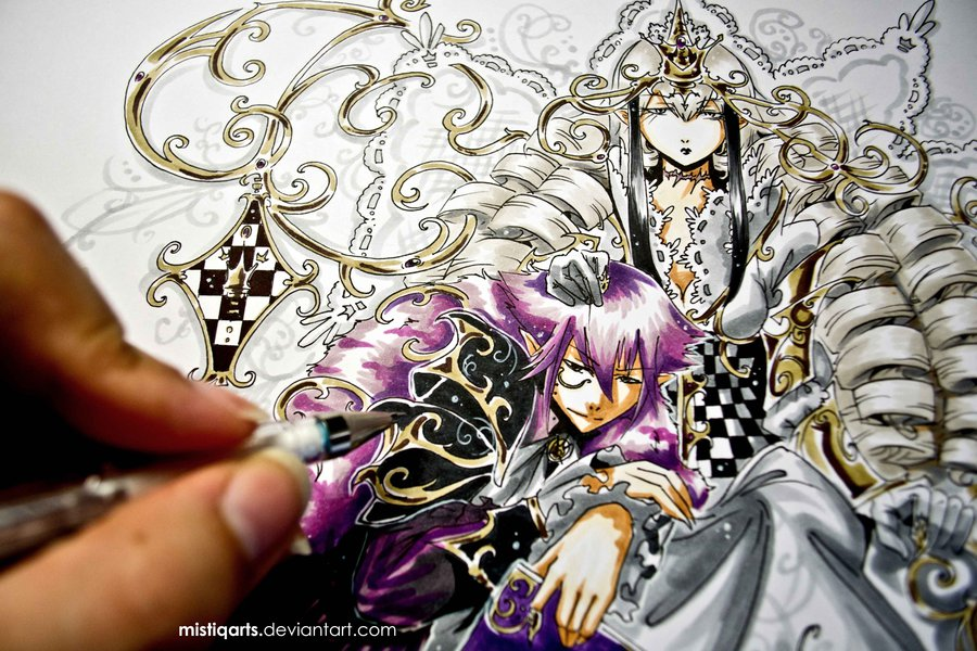 white queen and her cheshire cat by mistiqarts d7m1a8f