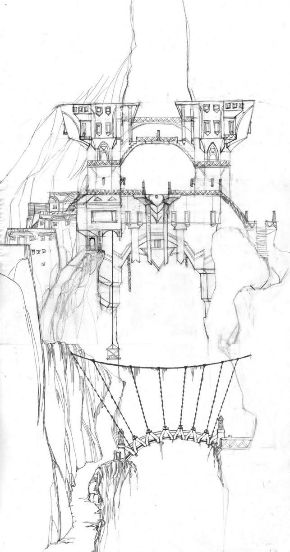 Бронзовые Ворота - одна из ключевых локаций. Это город-крепость, который закрывает вход в подземный мир и обороняет внешний мир от пещерных монстров.