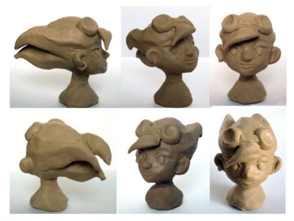 Модель головы Молли (пластилин)